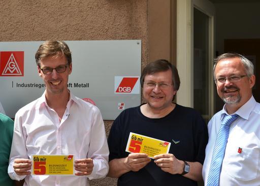 v.l.n.r. Lars Castellucci, Thomas Wenzel, Thomas Funk