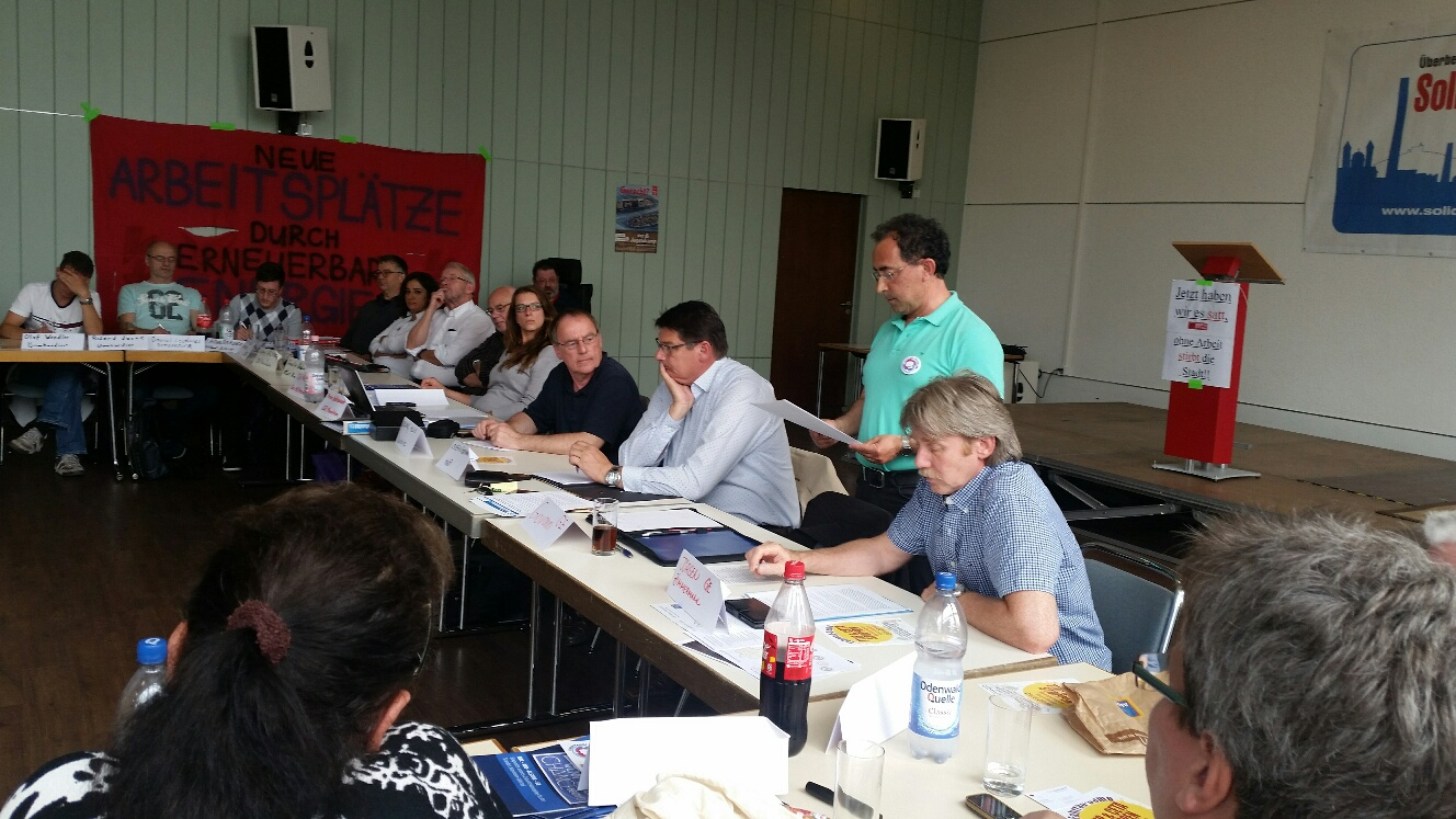 Treffen des Soli-Komitees mit Politikern der Region