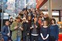 Gruppenbild mit der Theodor-Heuss-Schule im Citydome am 9. Februar